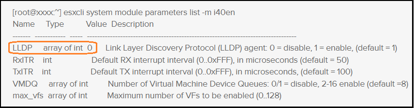 DELL PowerEdge ESXi Hosts: LLDP Not Working With Intel X710